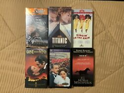 Classic Vhs Movie 6 Pack Titanic, Gone With The Wind