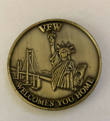 Vfw Welcomes You Home We Will Not Forget Service Sacrifice Challenge Coin B3