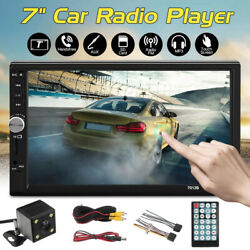 7'' Touch Screen Double Bluetooth Car Stereo Radio Mp5 Player Reversing Camera