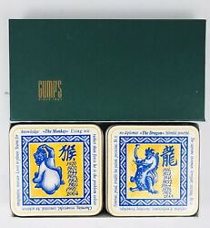 Vintage Pimpernel Gump's Chinese Zodiac Coasters Cork Backed New Old Stock