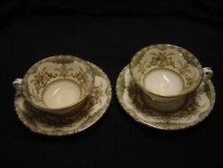 Minton Chatham S123 2 Cups And Saucers