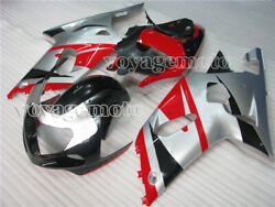 Red Silver Black Complete Injection Fairing Fit For 01 02 03 Suzuki Gsxr 600 750