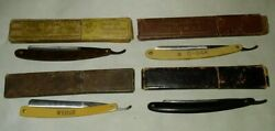 Antique Straight Razors 4 Different Manufacturers, Boxes Don't Match