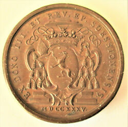 France- 1735- Greyhound - Eagles Flying Towards The Sun - Copper- Very Rare