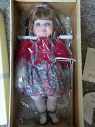Goebel Robin Porcelain Collector Doll 17 Le Musical Nib W/ Doll Stand 165