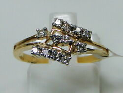 14 K Gold Vs G Certified Diamond Set Floral Ring Jewelery Engagement Ring