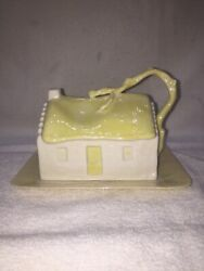Belleek Butter/ Cheese Dish Country Cottage Covered Ireland