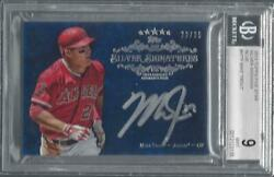 Mike Trout 2013 Topps Five Star Silver Signings Blue On Card Auto /25 Bgs 9 10
