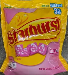 NEW PARTY SIZE STARBURST FRUIT CHEWS STRAWBERRY ALL PINK CANDY 50 OZ 1.4kg BAG