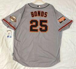 Barry Bonds 60 4xl San Francisco Giants Majestic Cool Base Jersey Made In Usa