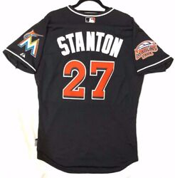 Giancarlo Stanton 44 Large Miami Marlins Majestic Cool Base Jersey Made In Usa