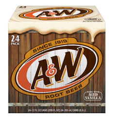 A And W Root Beer 24 Cans 355ml American Import - Ships From Uk - 24 Pack
