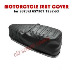 Motorcycle Seat Cover Suzuki Gs750 T 1982-83 With Embossing And Key Hole Ring