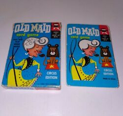 Vintage Ed-u-cards 1959 Old Maid Card Game Circus Edition Original Incomplete