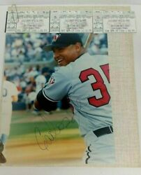 Carlos Lee Chicago White Sox, Warthogs Autographed 9 X 11 Picture Mlb