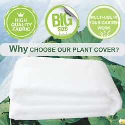 Hgmart Floating Row Cover Frost Blanket For Plant/flowers/crops 0.9oz 10x500ft