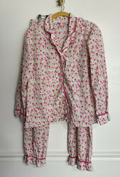 Lilly Pulitzer Pajamas Valentines Love You Too Much Hearts Long Sleeve Pants M