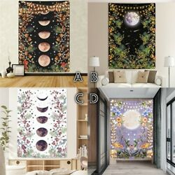 Bohemian Tapestry Moonlit Garden Tapestries Hippie Moon Wall Hanging Home Decor