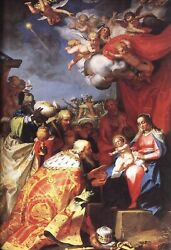 The Adoration Of The Magi - Poster 24 X 36 Inch Catholic Acts Saints Jesus