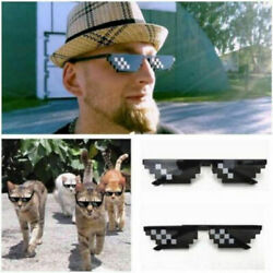 Thug Life New Sunglasses Deal With It 8 Bit Pixel Glasses Unisex Goggles HOT USA $5.59