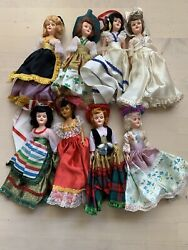 Vintage Dolls, Arco 1960's, Dolls Of The World, Collectibles And Antiques Lot 8