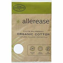 AllerEase Organic Cotton Allergy Protection Pillow Protectors Hypoallergenic