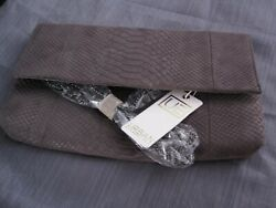 Urban Expressions Phobe Clutch Women#x27;s Gray NWT $65MSRP Vegan Approved $24.99