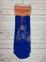Flying Tomato Anthropologie Women's L Large Lace Boho Strapless Cute Tunic Top $25.00