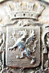 France-c.1900-britany - Mythical Griffin Coat Of Arms -silver Jeton - Very Rare