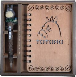 My Neighbor Totoro Vintage Wooden Cover Notebook Diary with Pen Style B $14.99
