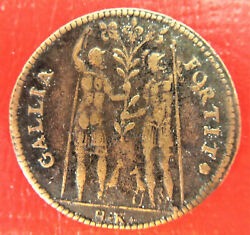 France/poland -henri Iii-1551 /1589 - 2 Warriors And Horse- Very Rare Brass Jeton