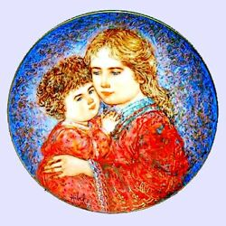 Hibel Mother's Day Plates - Erica And Jamie Collector Plate