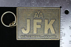 Vtg American Airlines Number New Teminal July 2005 Jfk Keychain Rare D-9