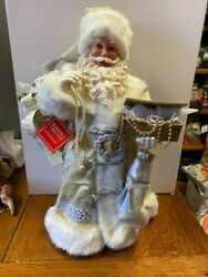Dept 56 Possible Dreams -gold And Silver Large Santa - 20 Tall - 6003850