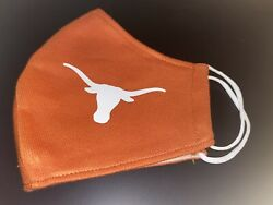 Orange White Texas Longhorns Mascot Face Mask Reusable Washable Breathable $9.95