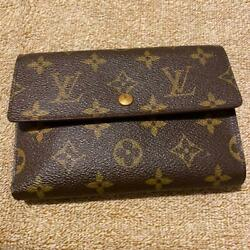 Louis Vuitton Wallet Monogram Leather Button M15845877080 Pre-owned From Japan