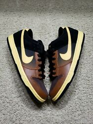 Nike Sb Dunk Low Pro Black And Tan 313170-270 Guinness Beer Size 10.5 Sample