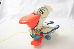 Fisher Price Toys 794 Pelican M2r 1961 Wooden Pull Toy Euc Working