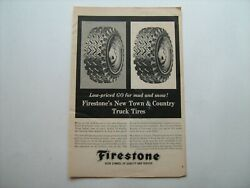 1963 Firestone Town And Country Truck Tires Vintage Ad From Private Estate--'63
