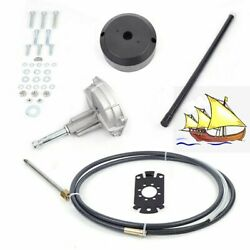 Boat Rotary Steering System Outboard Kit 12 Feet Marine With 12 Steering Cable