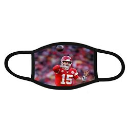 Patrick Mahomes 1 Custom printed face mask handmade mask covering protection $24.00