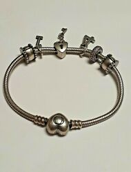 Pandora Sterling Silver 925 3.11 Inches 4 Charm Pendants