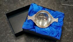 Silver Quaich 925 Sterling Silver 2.5 Hall Marked New