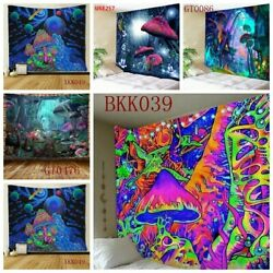 Psychedelic Mushroom Tapestry Dreamlike Wall Hanging Home Blanket Decor USA
