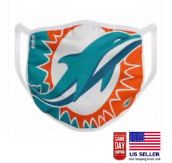 Miami Dolphins Face Mask. Washable & Filter Pocket NFL Team Sport Football NEW $10.99