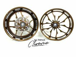 300 Fat Tire Root Beer Contrast Recluse Wheels 2009-2014 Yamaha Yzf R1