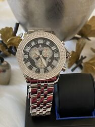 Nwt Techno Master Chronograph Stainless Steal Diamond Watch 2700 List