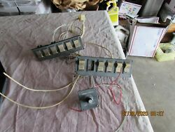 Aircraft Airplane Part Vintage Piper Rocker Switches 2 Panels Lights Pitot Heat