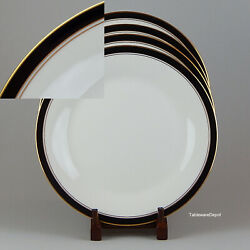 Noritake Ivory And Ebony Set Of 2 Dinner Plates Superb Condition 7274
