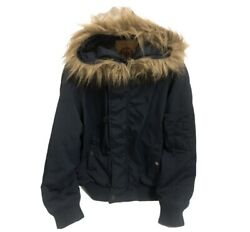 Menand039s Coat By Daniel Cremieux Collection Fur Trim Hood Size Medium Very Nice